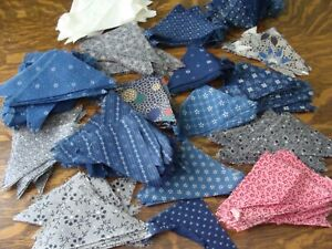 475 Vintage Antique Late 1800 S Cotton Fabric Triangles Quilt Dolls