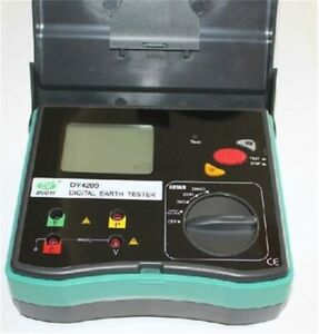 New Dy4200 Digital Earth Ground Resistance Tester Meter 0 01 To 2000 Px