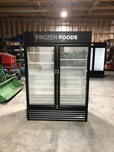 True Gdm 49f Display Freezer Merchandiser 2 Glass Door 2018 Model