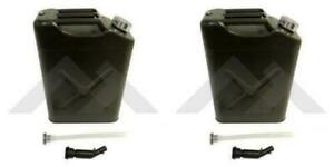 Pack Of 2 Olive Metal Jerry Can With Spout Fit Jeep Wrangler Cj Yj Tj Lg Jk Jl