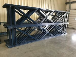 Used Teardrop Uprights For Pallet Racking 42 X 18 h