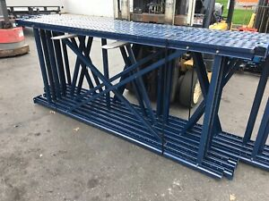 Used Tear Drop Upright For Pallet Racking 42 d X 96 h