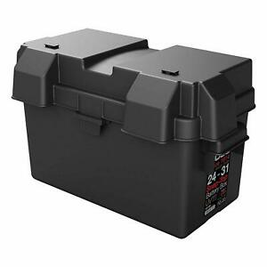 Snap Top Battery Box Automotive Marine 24 31 Rv Batteries Storage Group Black