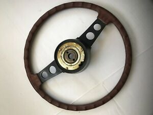 Nissan Datsun 1970 1980 Z Car Wooden Steering Wheel Vintage Oem