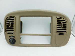 1998 2002 Lincoln Navigator Center Air Vent Radio Bezel 4wd 4 X 4 Tan Parchment