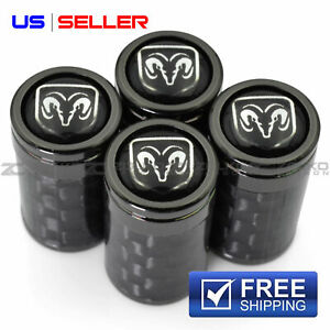 Valve Stem Caps Wheel Tire For Dodge Ram 4pc 2 Color Option Vc09 Vc14