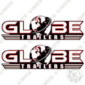 Globe Trailers Decal Kit set Of 2 Lowboy Trailer Replacement Decals