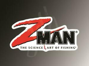 Z Man Fishing Vinyl Decal Sticker Bass Boat Rod Reel Bait Pro Team