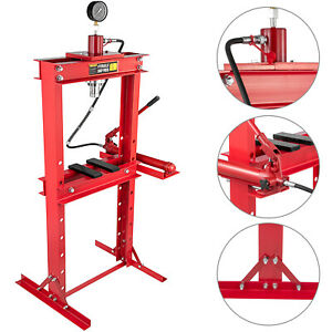 Hydraulic Shop Press Floor Press 20t Heavy Duty With Pump And Manometer