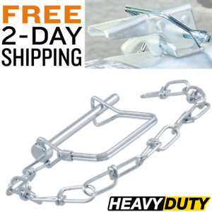 Trailer Safety Pin With Chain Tongue Coupler Latch Safety Clip Jack Legs
