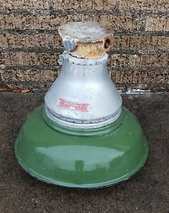 Vintage Green Porcelain Enamel Industrial Light Fixture Explosion Proof Aa 51