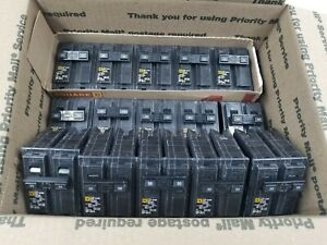 5 square D 50 Amp 5 40 Amp 5 30amp 2 pole Circuit Breakers 15 Total