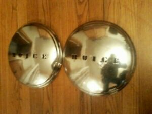 1937 1938 Vintage Buick Hub Caps Dog Dish Poverty Caps Oem Gm 37 38 Roadmaster