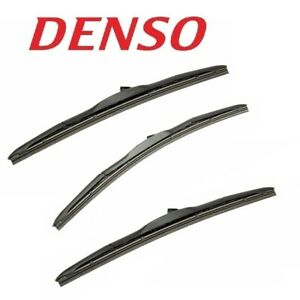 Set Of 3 Front Windshield Wiper Blades Kit Denso For Toyota Fj Cruiser 2007 2014