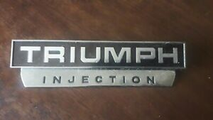 Triumph Injection Car Badge Vintage Rare
