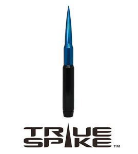 True Spike 9 Fat Bullet Spiked Antenna Black Blue For 07 18 Jeep Wrangler Jk