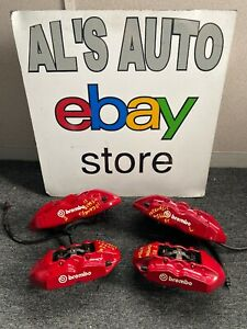 10 16 Hyundai Genesis Coupe Brembo Brake Calipers Front Rear Red Oem