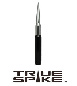 True Spike 9 Fat Bullet Spiked Antenna Black Silver For 07 18 Jeep Wrangler Jk