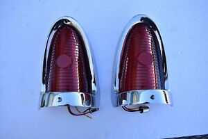 55 Chevy Custom Taillight 48 Sequential Led Taillight Lens No Back Up W Bezels