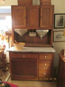 Antique Hoosier Cabinet With All Accessories The Finest