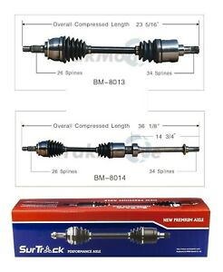 For Mini Cooper 02 08 Supercharged Fwd Pair Of Front Cv Axle Shafts Surtrack Set
