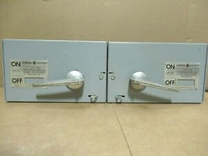 Ge Thfp361r hardware Twin 30 Amp 600v 3p Fusible Type Qmr Switch warranty