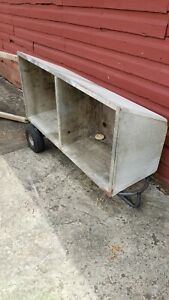 Antique Soapstone Double Basin Slant Front Sink With Washboard And Stand