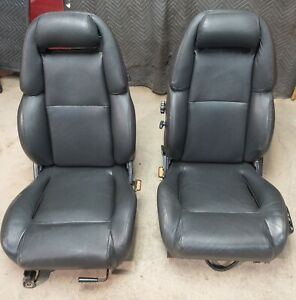 90 96 Nissan 300zx Non Turbo Driver Passenger Side Leather Seats Oem Pickup Only