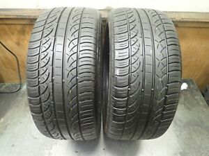 2 245 40 18 93v Pirelli Pzero Nero Runflat Tires 8 32 No Repairs 0418
