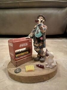 Emmett Kelly Clown Coca Cola At The Red Cooler 1994 4