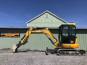 2014 Jcb 8035 Zts Mini Excavator Enclosed Heat ac Hyd Thumb Cheap Shipping