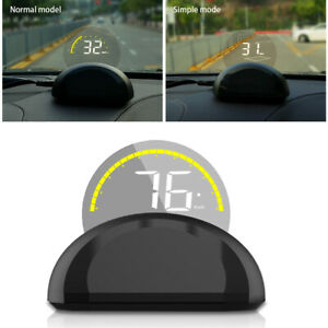 Universal C700 3 5 Hud In Car Heads Up Km h Mph Water Temp Display Speedometer