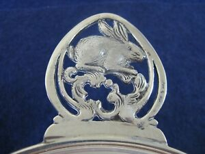 Vintage Rabbit Motif Large Sterling Porringer By The Merril Shops 1893 C1931