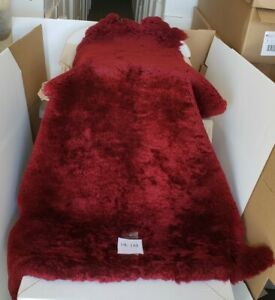 Sheepskin Pelt merino burgundy 8 5 Sf