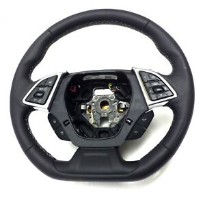 23379914 Oem Steering Wheel Black With Gray Stiches 2016 Chevrolet Camaro Ls