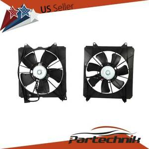 Left Right Pair Set Radiator Ac Condenser Cooling Fan For Honda Accord 08 12 2 4