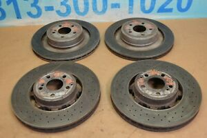 2012 W218 Mercedes Cls63 Amg Front Rear Brembo Brake Rotor Rotors Set Of 4