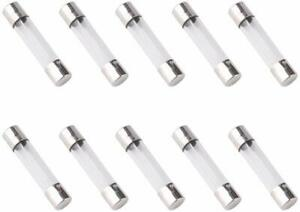 10x 5a 250v Fast Blow Fuse Glass Tube Fuse 5 Amp Fuse 6x30mm