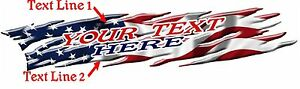 Custom Lettering Auto Usa Flag Boat Car Truck Graphics Decals Stickers 10 feet
