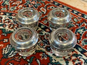 Frank Whiting Sterling Silver Glass Inkwell Vintage Euc Lot 4 Fg