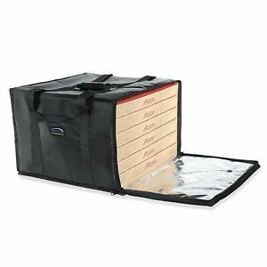 Insulated 6 Box Pizza Delivery Bag Carrier Food Warmer Travel Storage Container