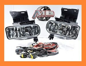 Clear Fog Lights Lamp Chevy 99 02 1500 00 01 3500 00 06 Suburban Tahoe Wiring