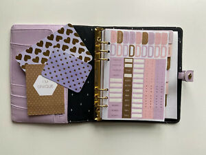 Kikki K Large A5 Lilac Lavender Purple Leather Personal Planner