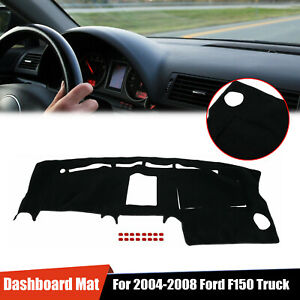 For 2004 08 05 06 07 Ford F150 Truck Dashmat Dash Covermat Dashboard Cover Black