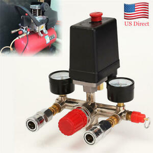 Air Compressor Pressure Control Switch Valve 90 120 Psi With Gauges Relief