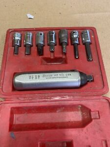 Snap On 3 8 Drive Hand Impact Driver Set Screwdriver Sockets Case Pit120
