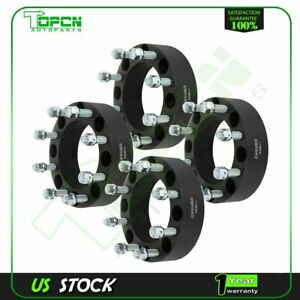 4 Pcs Black Wheel Spacers 8x170 14x1 5 Studs 2 Thick For Ford F 250 Super Duty
