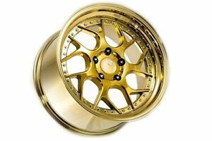 18x9 5 Aodhan Ds01 5x100 35 Gold Vacuum Rims Fits Vw Jetta Golf Passat Beetle