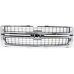 Chrome Grille With Black Insert For 07 10 Silverado 2500 3500 Hd Fit Gm1200608