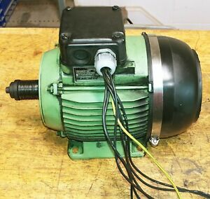 Emco Maximat S11 Lathe Elin 1 5 1 85 Hp Dual Speed Spindle Motor 3 Phase B03t